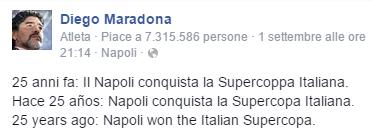 25 anni fa: Il Napoli conquista la Supercoppa Italiana