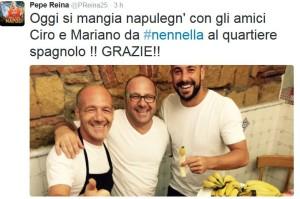 Pepe Reina: Oggi si mangia Napulegn'