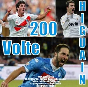 Higuain 200 Goal tra Argentina Spagna e Italia