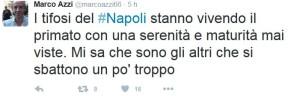Azzi I Tifosi del Napoli Dimostrano Maturità
