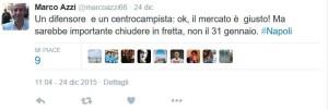 Azzi Mercato Napoli, Importante chiudere in Fretta