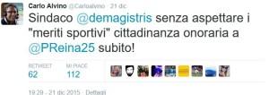 Carlo Alvino Appello a De Magistris