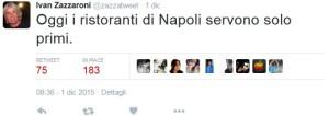 Zazzaroni I Ristoranti a Napoli servono solo Primi