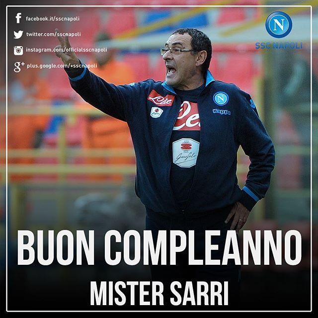 Buon compleanno Mister! #AuguriSarri